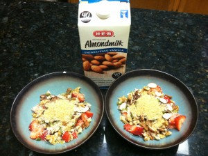 Paleo Nut and Seed cereal with Almond milk