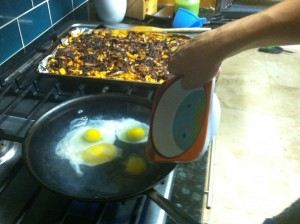 Poaching 4 eggs at a time