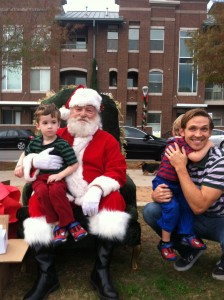 Poor Julian who is deathly afraid of Santa. Merry Christmas from Jackson and Bah Humbug from Julian!