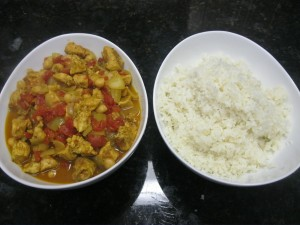 Served it with my no grain cauliflower rice