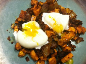 Sweet Potato Hash with poached eggs, Does this not look like heaven