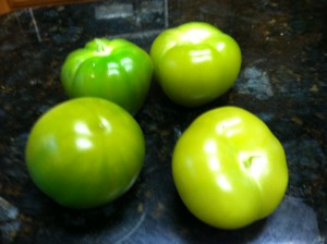 Tomatillos after they are boiled are deshelled