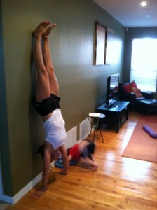 Trying to do my hand stands