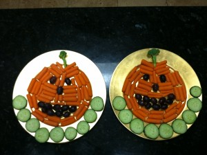 Two Healthy Halloween Pumpkin Vegetables